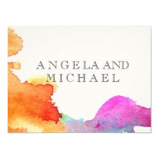 Spritzen des Aquarells 16,5 X 22,2 Cm Einladungskarte