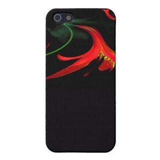 Spritzen des rote Lilien-BlumenFraktal Designs Hülle Fürs iPhone 5