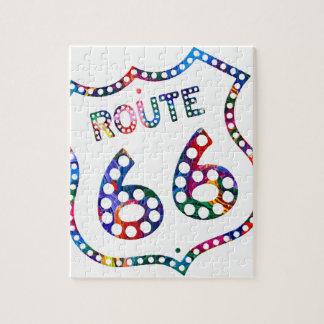 Spritzen des Weges 66 Farb! Puzzle