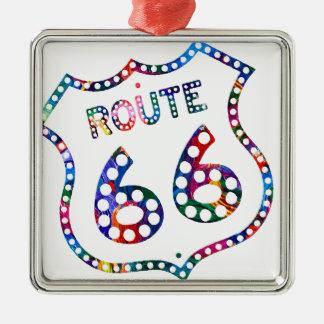 Spritzen des Weges 66 Farb! Silbernes Ornament