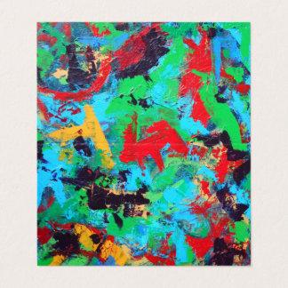 Spritzen-Hand gemalte abstrakte Brushstrokes Visitenkarten