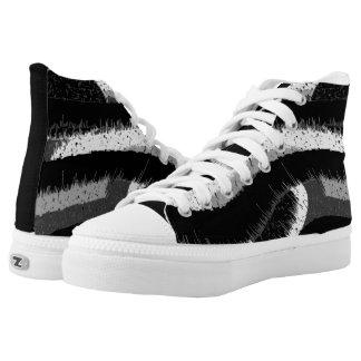 Spritzen Hoch-geschnittene Sneaker