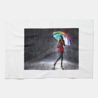 Spritzen im Regen Handtuch