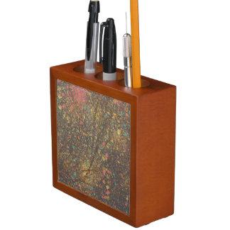 Spritzen mit Goldschreibtisch-Organisator Stifthalter