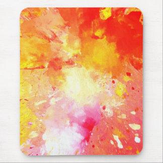 """""""Spritzen-"""" rosa und orange abstrakte Kunst Mousepad"""