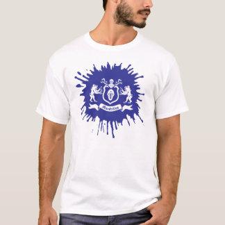 Spritzen-Tinte heraldisches Mandrills T-Shirt