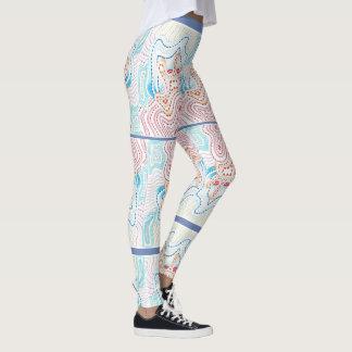 Spritzen von Farbgamaschen Leggings
