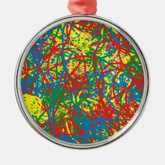 Spritzenregenbogen der bunten heißen silbernes ornament