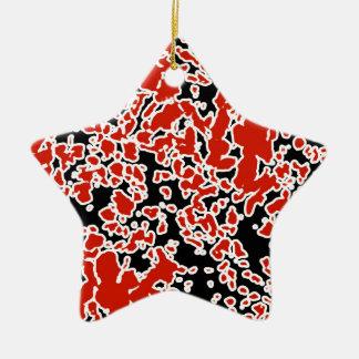 Spritzer-abstrakte Beschaffenheit Keramik Stern-Ornament