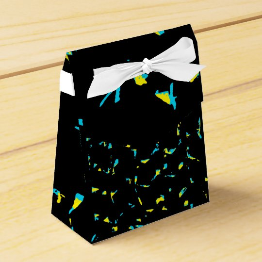 Spritzer-abstraktes dunkles Muster Geschenkschachtel