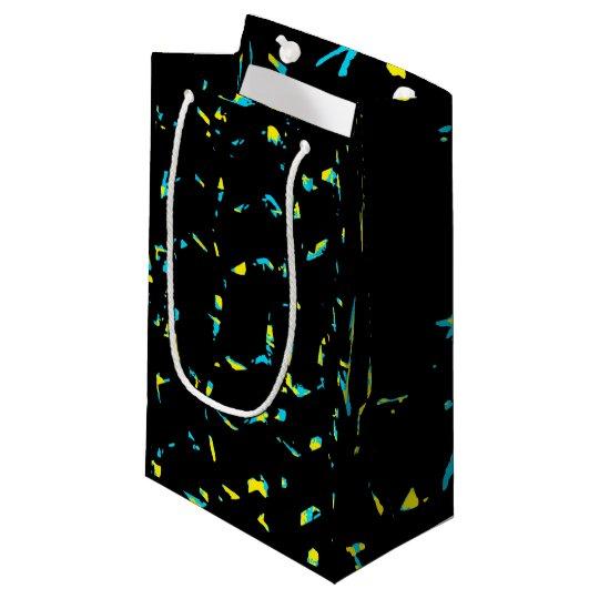 Spritzer-abstraktes dunkles Muster Kleine Geschenktüte
