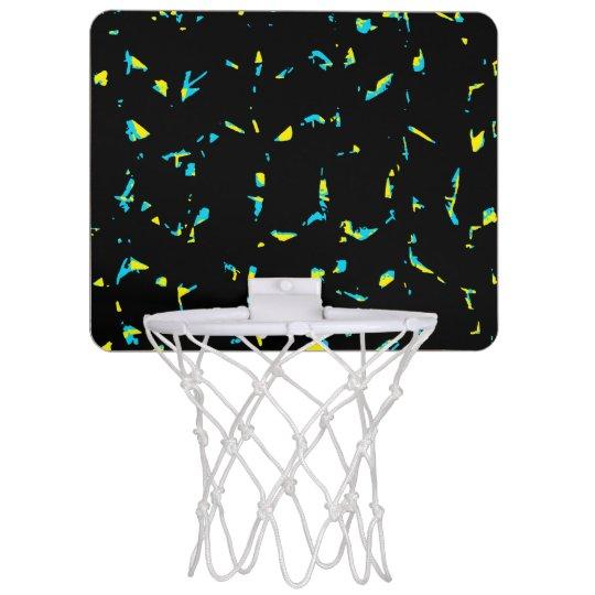 Spritzer-abstraktes dunkles Muster Mini Basketball Netz