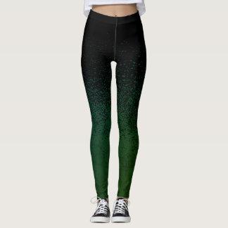 Spritzer-blaue/grüne Gamaschen Leggings