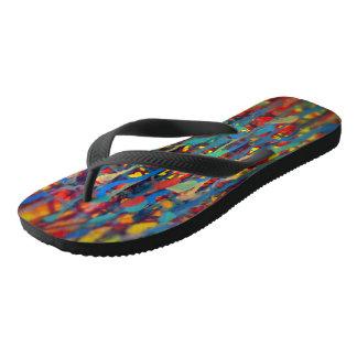 Spritzer-Farbe Flip Flops