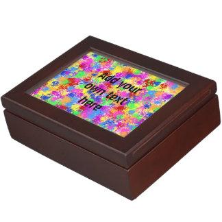 Spritzer-Farben-Regenbogen des hellen Erinnerungsdose