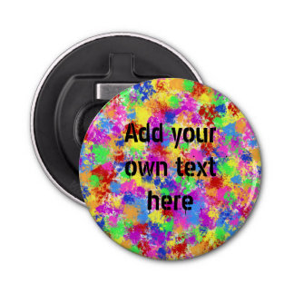Spritzer-Farben-Regenbogen des hellen Flaschenöffner