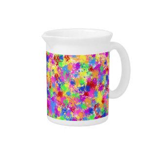 Spritzer-Farben-Regenbogen des hellen Krug