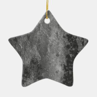 Spritzt vom Brunnenwasser (Schwarzweiss) Keramik Stern-Ornament