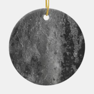 Spritzt vom Brunnenwasser (Schwarzweiss) Rundes Keramik Ornament