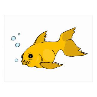 Sprudelnder Goldfisch Postkarte