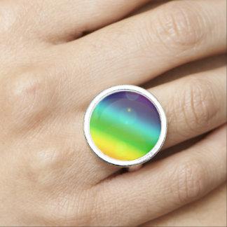 Sprudelnder Regenbogen Foto Ring