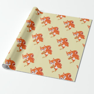 Sprudelt das hilfreiche Eichhörnchen Geschenkpapier