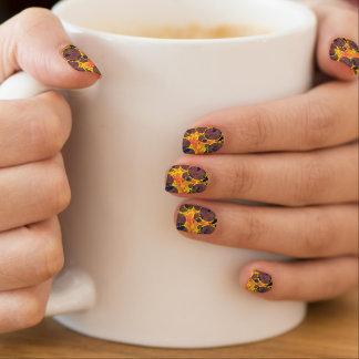 Sprudelt orange abstraktes minx nagelkunst