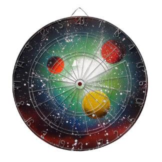 Sprühfarbe-Kunst-Raum-Galaxie-Malerei Dartscheibe