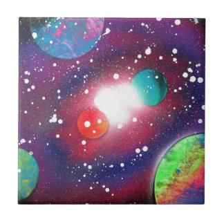 Sprühfarbe-Kunst-Raum-Galaxie-Malerei Fliese
