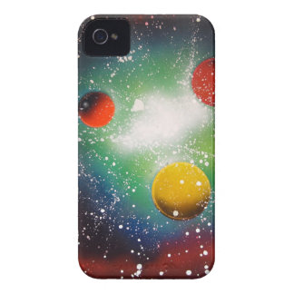 Sprühfarbe-Kunst-Raum-Galaxie-Malerei iPhone 4 Case-Mate Hüllen
