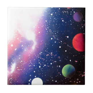 Sprühfarbe-Kunst-Raum-Galaxie-Malerei Keramikfliese