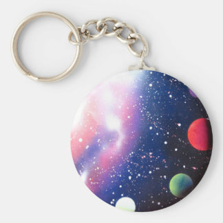 Sprühfarbe-Kunst-Raum-Galaxie-Malerei Schlüsselanhänger