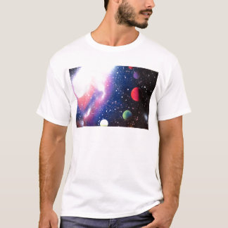 Sprühfarbe-Kunst-Raum-Galaxie-Malerei T-Shirt