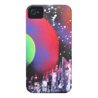 Sprühfarbe-Kunst-Stadt-Raum-Landschaftsmalerei iPhone 4 Cover