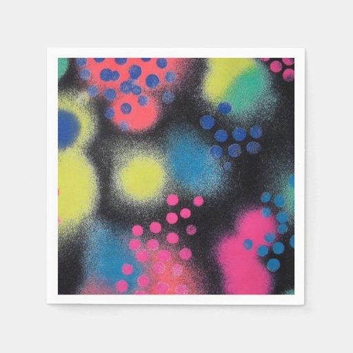 Sprühfarbe Papierserviette