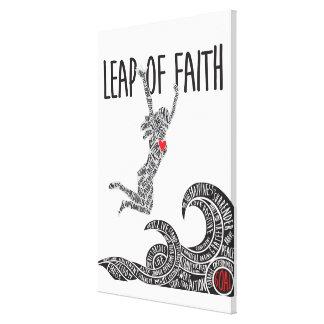Sprung der Glauben-Leinwand mit der Frau, die das Leinwanddruck