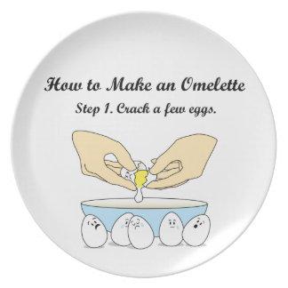 Sprung-EIn-wenig-Eier Melaminteller