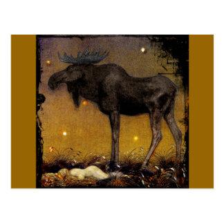 Sprungs-Elch-Prinzessin Cotton Asleep Postkarten