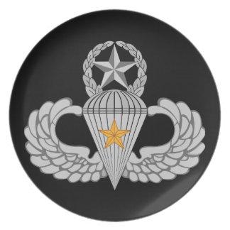 Sprungs-Flügel des Armee-Kampf-fünf Melaminteller
