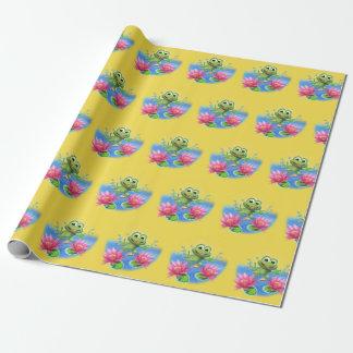 Sprungsfroschgeburtstags-Party-Verpackungspapier Geschenkpapier