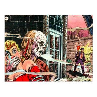 Spuk Comic-Buch Halloweens Postkarte