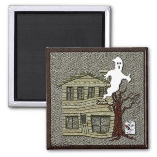 Spuk Halloween-Cartoon Quadratischer Magnet