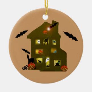 Spuk Halloween-Verzierung Rundes Keramik Ornament
