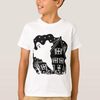 Spuk Haus-Geist-T-Shirt T-Shirt