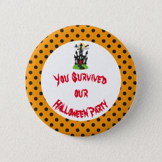 Spuk Haus-Halloween-Party Runder Button 5,7 Cm