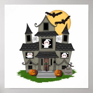 Spuk Haus Halloweens Poster