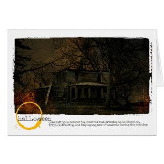 Spuk Hausphotographie Halloweens Karte