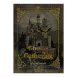 Spuk Schloss-Halloween-Party-Einladung