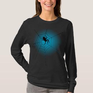 Spuk schwarze Spinne Halloweens auf Netz T-Shirt