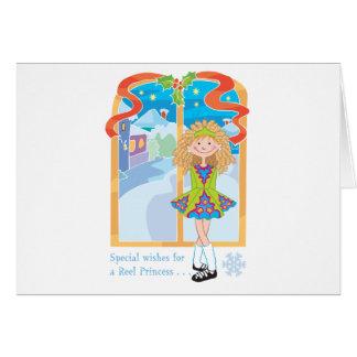 Spulen-Blondinen-Weihnachten Karte
